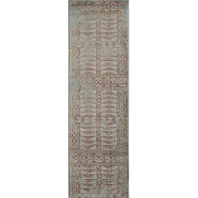 Daisie Blue/Brown Area Rug Rug Size: 53 x 76