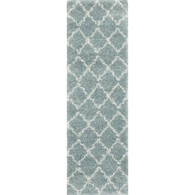 Olhouser Blue Area Rug Rug Size: Runner 23 x 76