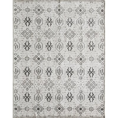 Zoey Hand-Knotted Gray Area Rug Rug Size: Rectangle 8 x 11