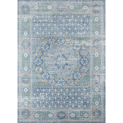 Alicia Blue Area Rug Rug Size: Rectangle 4 x 6