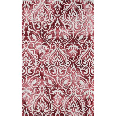 Lucy Hand-Hooked Rose Area Rug Rug Size: Rectangle 5 x 76