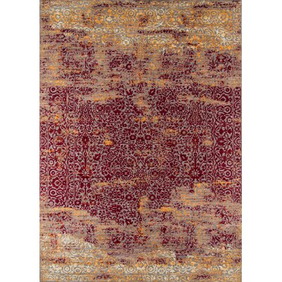 Danica Red Area Rug Rug Size: Rectangle 9 x 12