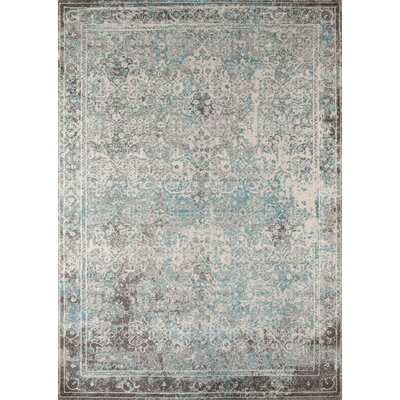 Danny Turquoise Area Rug Rug Size: Rectangle 93 x 126