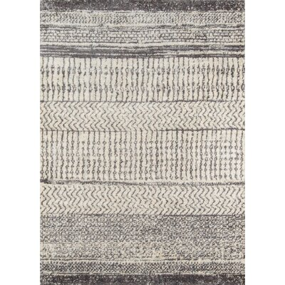Danny Gray/Ivory Area Rug Rug Size: Rectangle 2 x 3