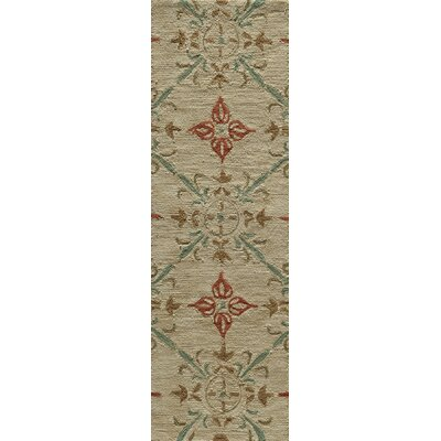 Indigo Hand-Woven Sand Area Rug Rug Size: Runner 23 x 76
