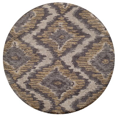 Ambrose Hand-Tufted Brown/Gray Area Rug Rug Size: 3 x 5