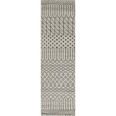Dante Hand-Woven Gray/Cream Area Rug Rug Size: Rectangle 8 x 11