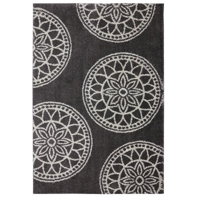 Renda Medallions Gray Area Rug Rug Size: Rectangle 8 x 10