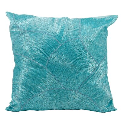 Sharonda 100% Cotton Throw Pillow Color: Turquoise