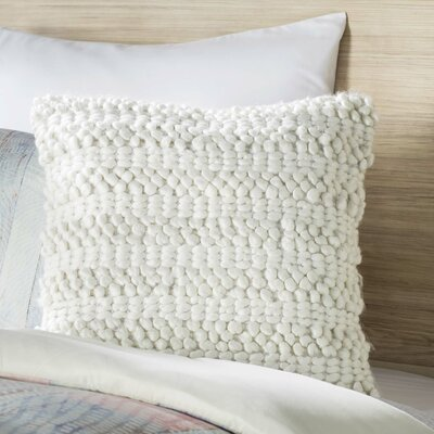Yassir Woven Stripe Throw Pillow Color: White