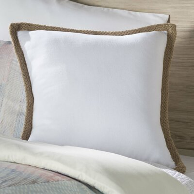 Lake Geneva 100% Cotton Throw Pillow Color: White
