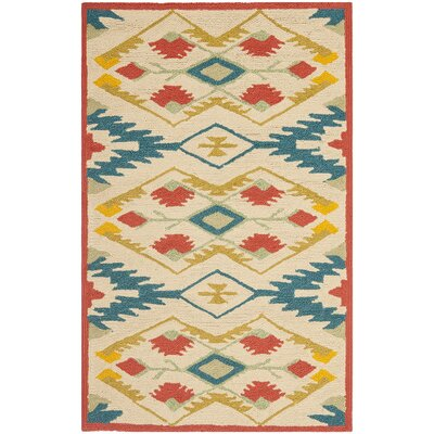 Puri Yellow and Blue Outdoor/Indoor Area Rug Rug Size: 2 x 3