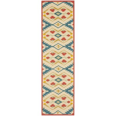 Puri Yellow and Blue Outdoor/Indoor Area Rug Rug Size: Runner 2'3