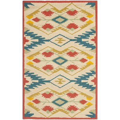 Puri Yellow and Blue Outdoor/Indoor Area Rug Rug Size: 5' x 8'