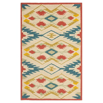 Puri Yellow and Blue Outdoor/Indoor Area Rug Rug Size: 2'6
