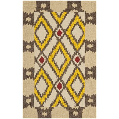 Puri Beige/Yellow Outdoor Area Rug Rug Size: Rectangle 26 x 4