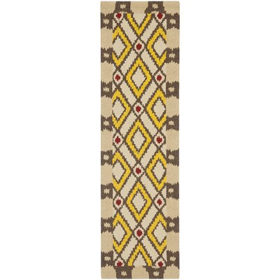 Puri Beige/Yellow Outdoor Area Rug Rug Size: Runner 23 x 8