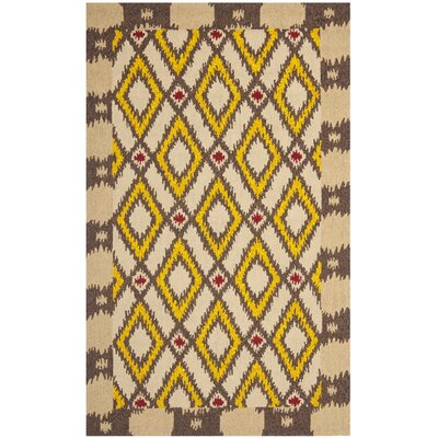Puri Beige/Yellow Outdoor Area Rug Rug Size: 5' x 8'