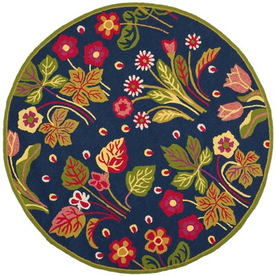 Puri Area Rug Rug Size: Round 4'