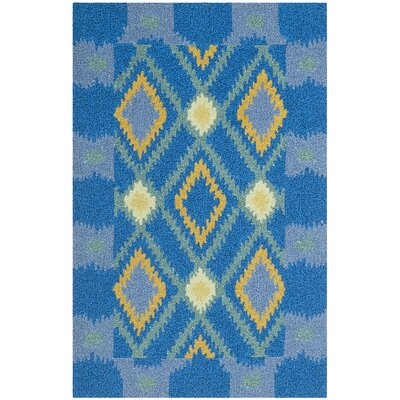Puri Indigo/Yellow Indoor/Outdoor Area Rug Rug Size: Rectangle 26 x 4