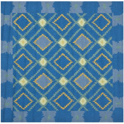 Puri Indigo & Yellow Area Rug Rug Size: Square 6'