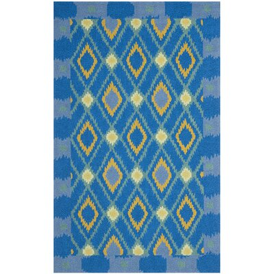 Puri Indigo/Yellow Indoor/Outdoor Area Rug Rug Size: 5 x 8