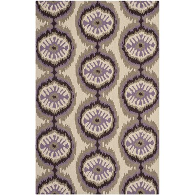 Puri Beige/Purple Outdoor Area Rug