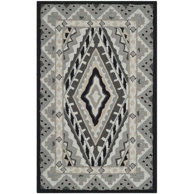 Puri Ivory/Grey Outdoor Area Rug Rug Size: Rectangle 36 x 56