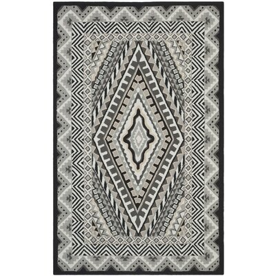Puri Ivory/Grey Outdoor Area Rug Rug Size: 5' x 8'