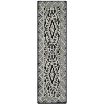 Puri Ivory/Grey Outdoor Area Rug Rug Size: Runner 2'3