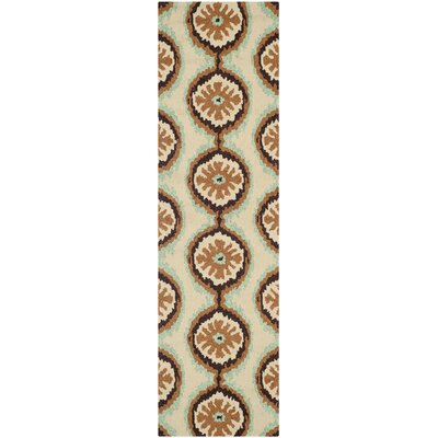 Puri Beige/Green Outdoor Area Rug Rug Size: Runner 23 x 8