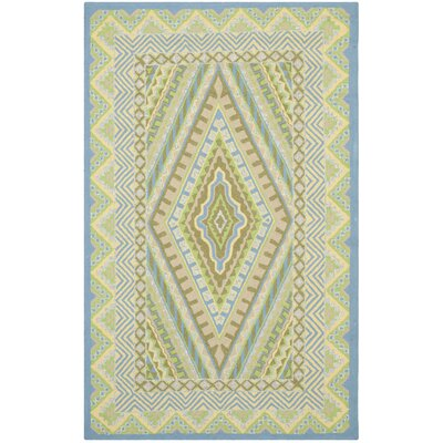 Puri Blue/Yellow Outdoor Area Rug Rug Size: 5 x 8