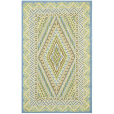 Puri Blue/Yellow Outdoor Area Rug Rug Size: 26 x 4