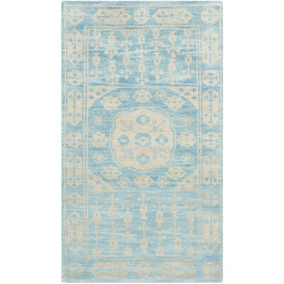 Hawke Blue Floral Plant Rug Rug Size: Rectangle 3 x 5