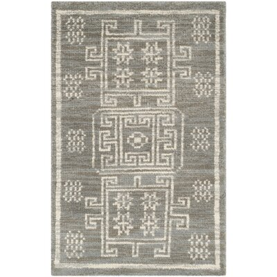 Walters Hand-Woven Wool Grey Area Rug Rug Size: Rectangle 2 x 3