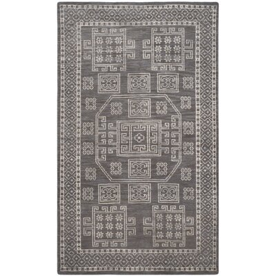 Walters Hand-Woven Wool Grey Area Rug Rug Size: Rectangle 5 x 8