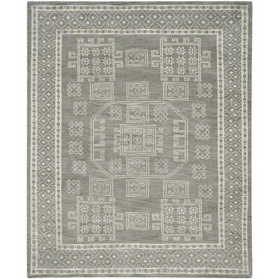 Walters Hand-Woven Wool Grey Area Rug Rug Size: Rectangle 9 x 12