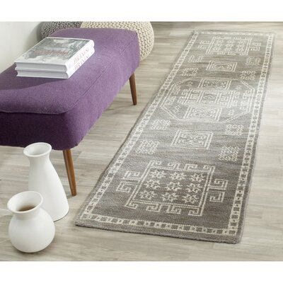 Walters Hand-Woven Wool Grey Area Rug Rug Size: Runner 23 x 8