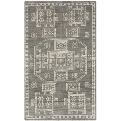 Walters Hand-Woven Wool Grey Area Rug Rug Size: Rectangle 6 x 9
