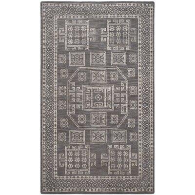 Hawke Grey Geometric Area Rug Rug Size: 5 x 8