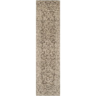 Hawke Hand-Woven Wool Brown/Beige Area Rug Rug Size: Runner 23 x 8