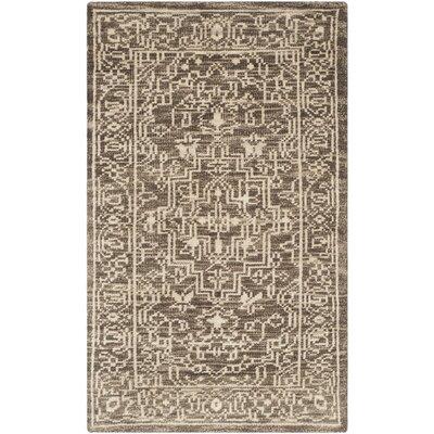 Hawke Brown / Beige Oriental Rug Rug Size: 4 x 6