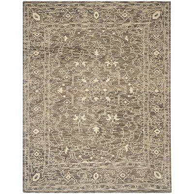 Hawke Brown / Beige Oriental Rug Rug Size: 6 x 9
