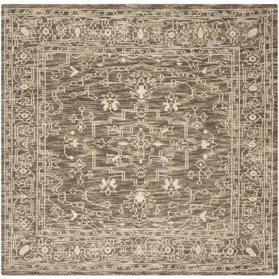 Hawke Brown / Beige Oriental Rug Rug Size: Square 7