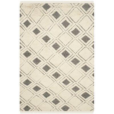 Hawke Ivory / Black Area Rug Rug Size: 9 x 12