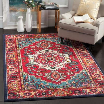 Chana Red Area Rug Rug Size: 8 x 10