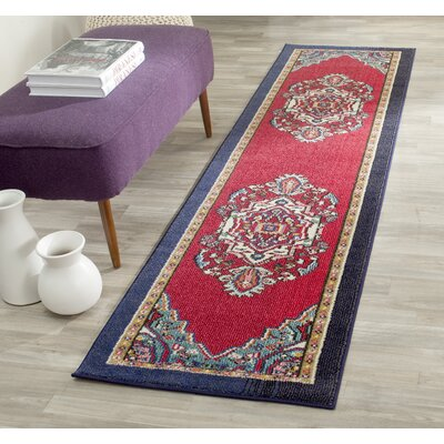 Chana Red Area Rug Rug Size: Runner 22 x 14