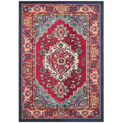 Ward Red Area Rug Rug Size: Rectangle 4 x 57