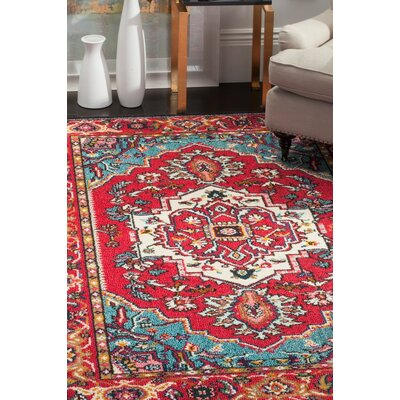 Ward Red Area Rug Rug Size: Runner 22 x 10