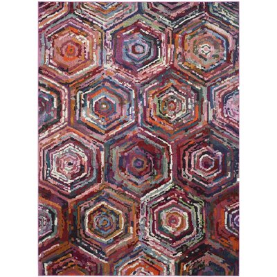 Chana Pink/Purple Area Rug Rug Size: Rectangle 67 x 92